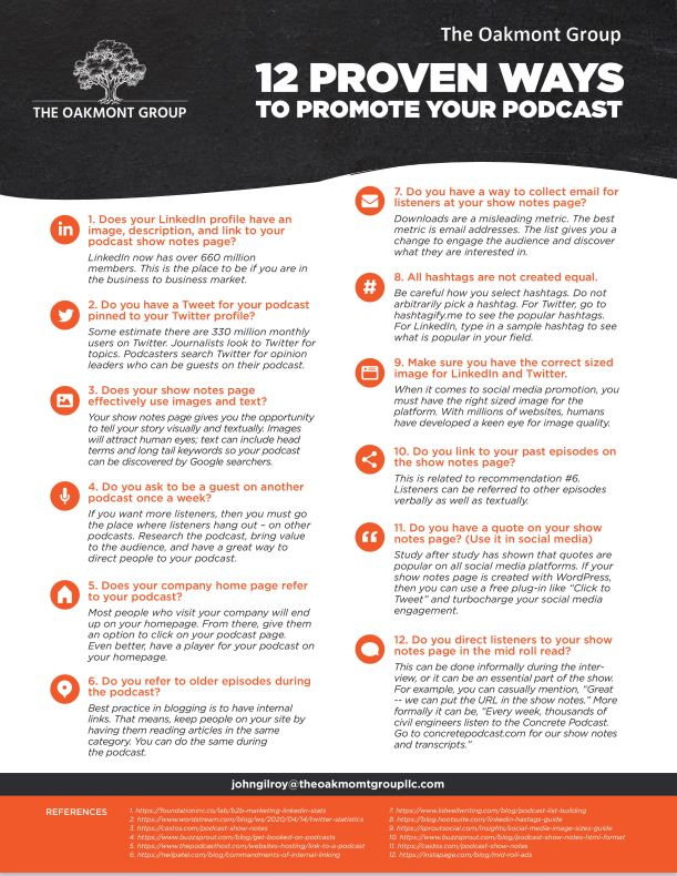 12 ways to promote a podcast